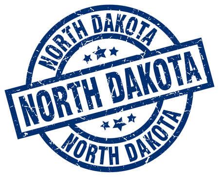 North Dakota blue round grunge stamp