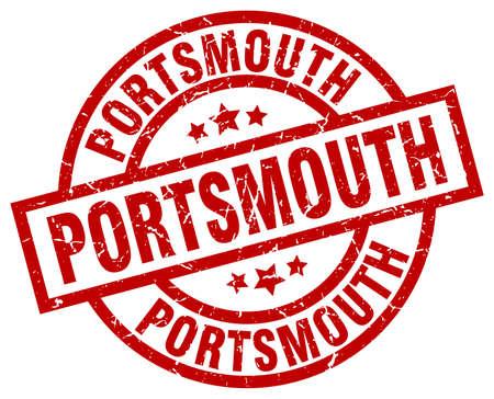 Portsmouth red round grunge stamp