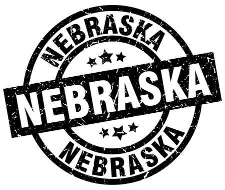 Nebraska black round grunge stamp