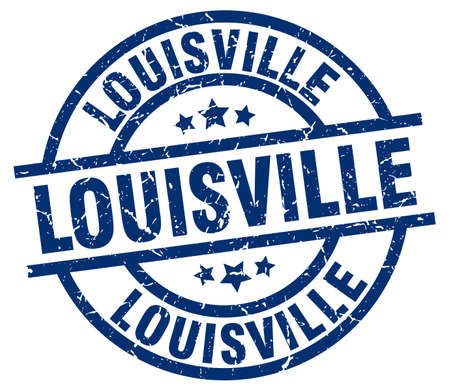 louisville: Louisville blue round grunge stamp