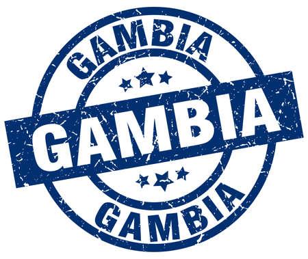 Gambia blue round grunge stamp Illustration