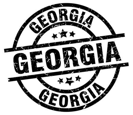 georgia: Georgia black round grunge stamp Illustration