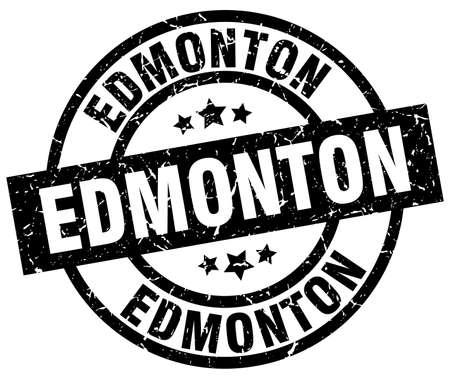 Edmonton black round grunge stamp