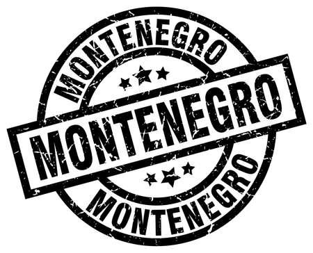 Montenegro black round grunge stamp