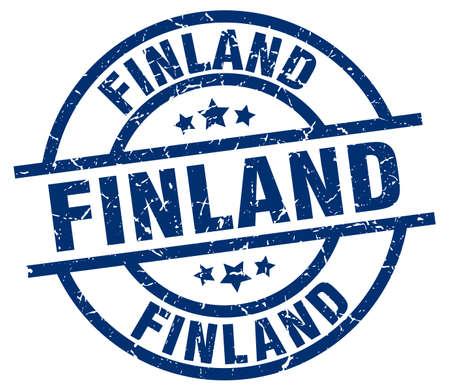 Finland blue round grunge stamp Illustration