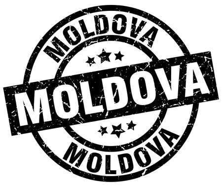 Moldova black round grunge stamp Illustration