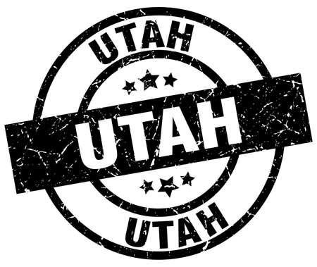 Utah black round grunge stamp.