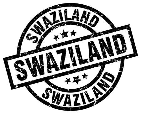 Swaziland black round grunge stamp.