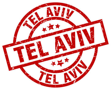 tel aviv: Tel Aviv red round grunge stamp. Illustration