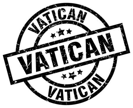 Sello de grunge redondo negro del Vaticano Foto de archivo - 79750513