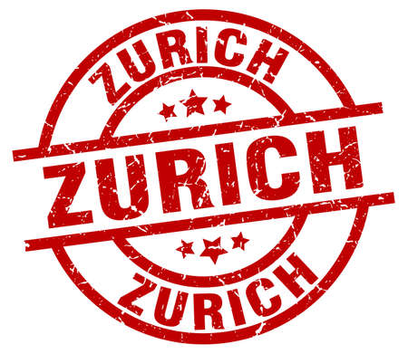 Zurich red round grunge stamp