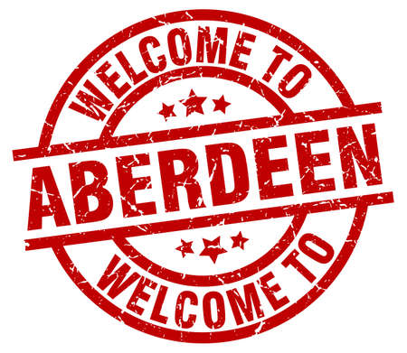welcome to Aberdeen red stamp