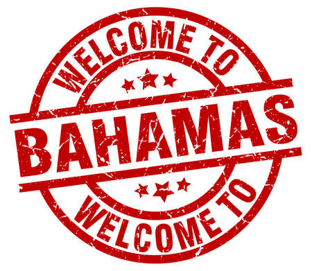 welcome to Bahamas red stamp