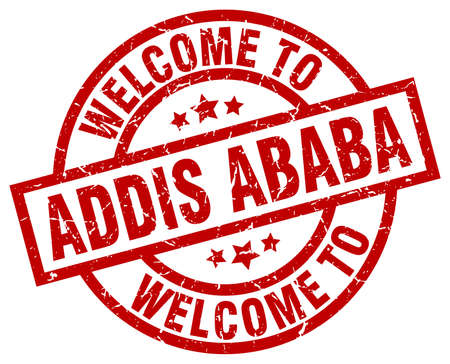 welcome to Addis Ababa red stamp
