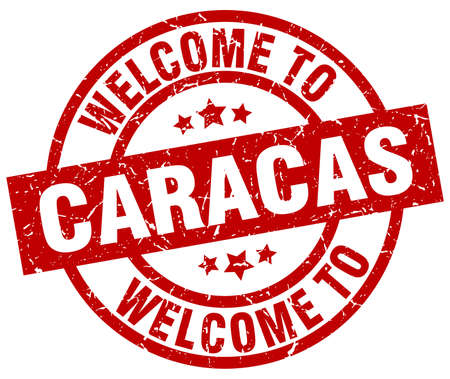 caracas: welcome to Caracas red stamp