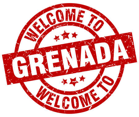 welcome to Grenada red stamp Illustration