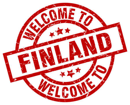 welcome to Finland red stamp Illustration