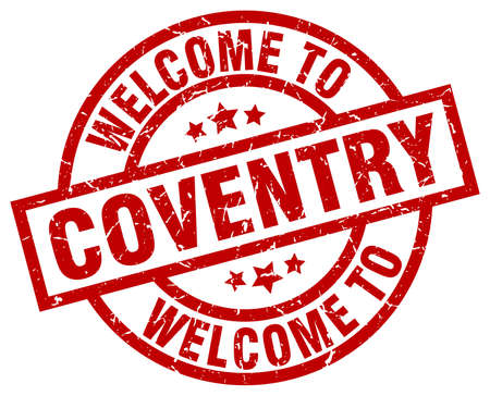 welcome to Coventry red stamp