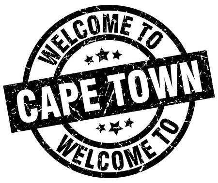 welcome to Cape Town black stamp Illustration