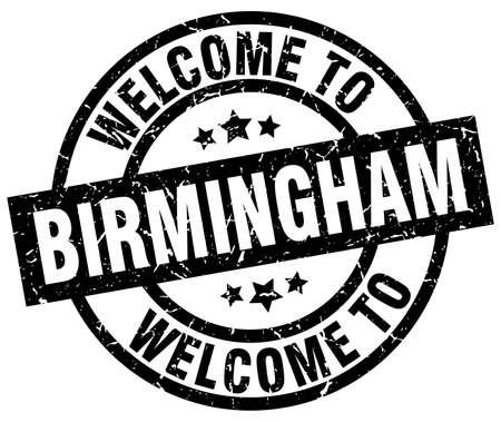 welcome to Birmingham black stamp