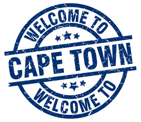welcome to Cape Town blue stamp