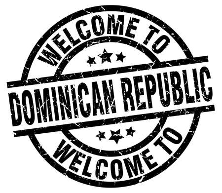 welcome to Dominican Republic black stamp Illustration