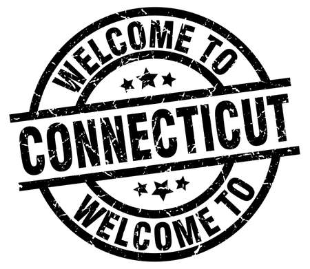 welcome to Connecticut black stamp