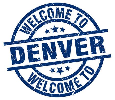 welcome to Denver blue stamp
