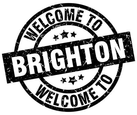 brighton: welcome to Brighton black stamp