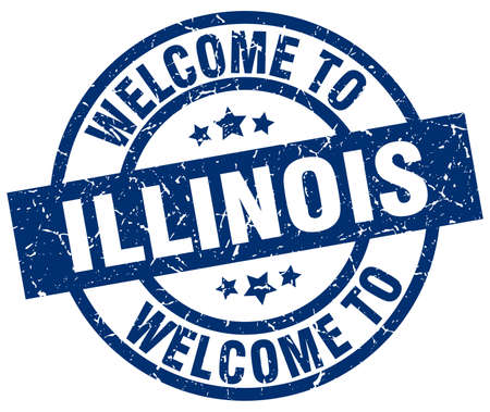 welcome to Illinois blue stamp