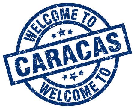 caracas: welcome to Caracas blue stamp