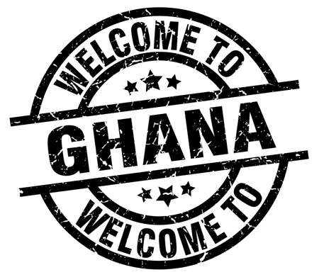 welcome to Ghana black stamp