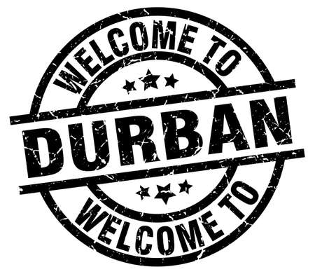 welcome to Durban black stamp