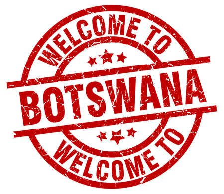 welcome to Botswana red stamp Illustration