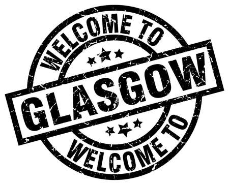 welcome to Glasgow black stamp