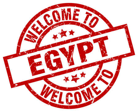 welcome to Egypt red stamp