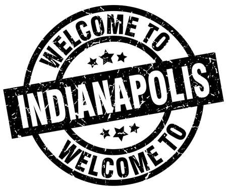 welcome to Indianapolis black stamp Illustration