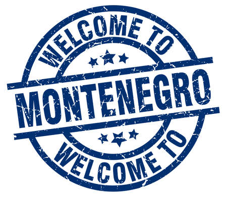 welcome to Montenegro blue stamp