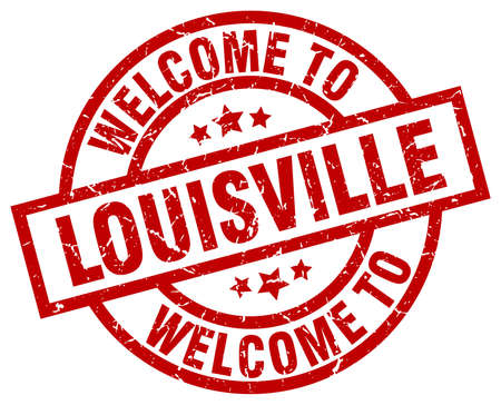louisville: welcome to Louisville red stamp Illustration
