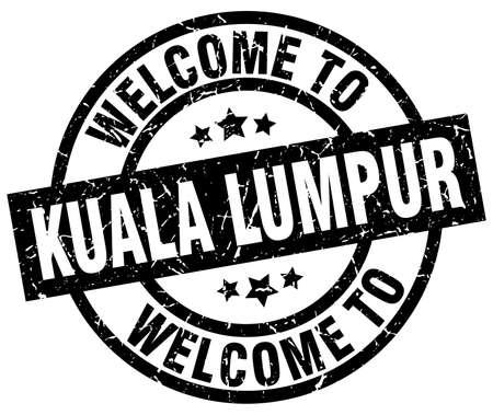 welcome to Kuala Lumpur black stamp
