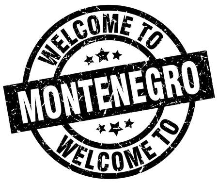 welcome to Montenegro black stamp