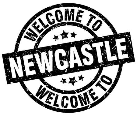welcome to Newcastle black stamp Illustration