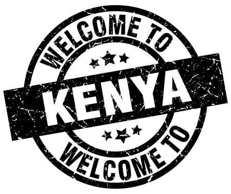 kenya: welcome to Kenya black stamp