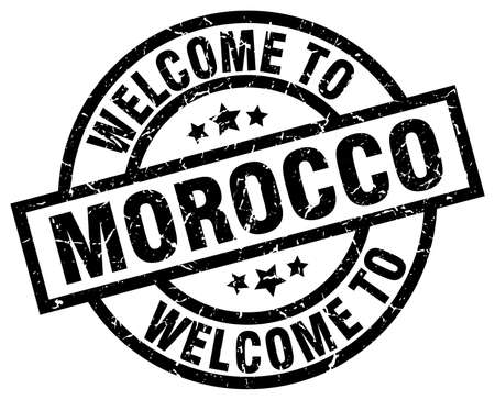 welcome to Morocco black stamp