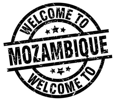 welcome to Mozambique black stamp