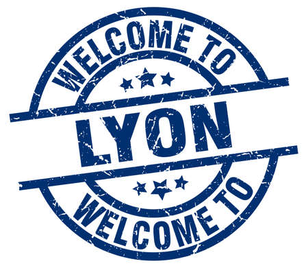 Welcome to Lyon blue stamp.