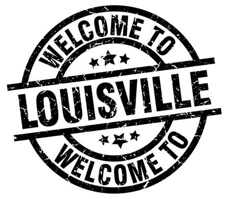 louisville: welcome to Louisville black stamp Illustration