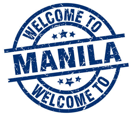 welcome to Manila blue stamp