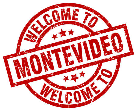 welcome to Montevideo red stamp