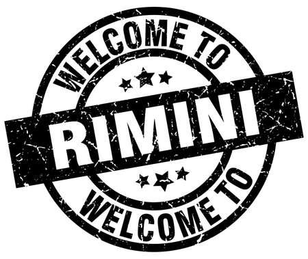 Welcome to Rimini black stamp.